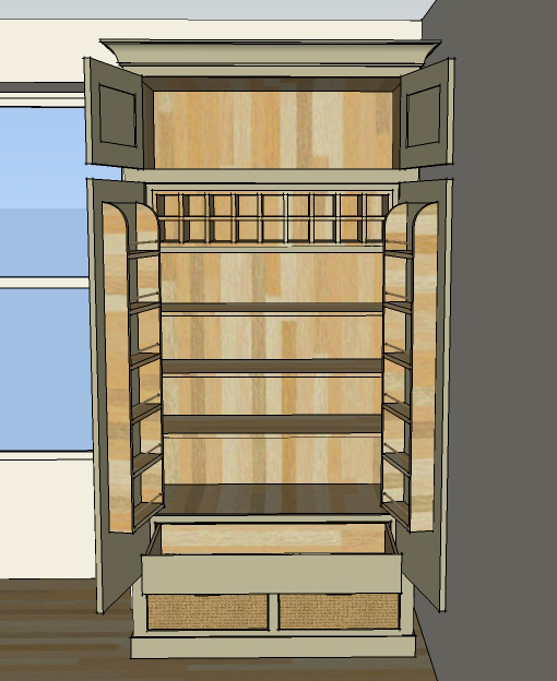 Luxurious oak kitchen larder cabinet sustainable kitchens for Oak kitchen larder units