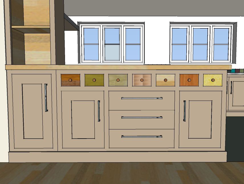 Handmade Fitted Kitchen Cabinet