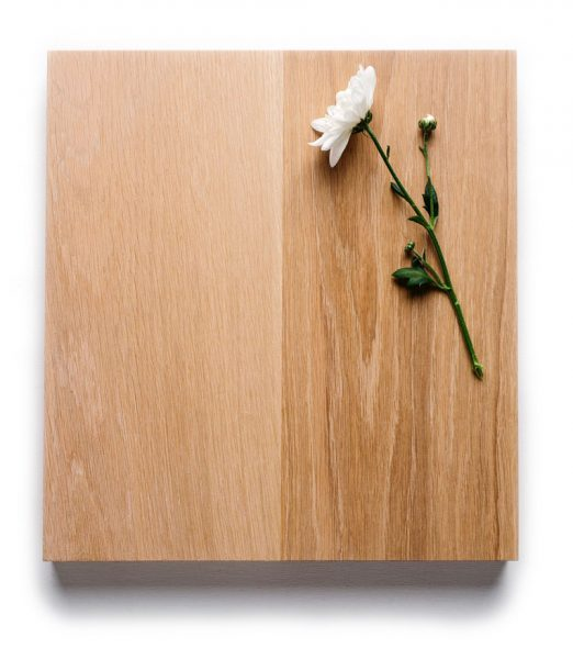 A sample piece of our oak worktops.