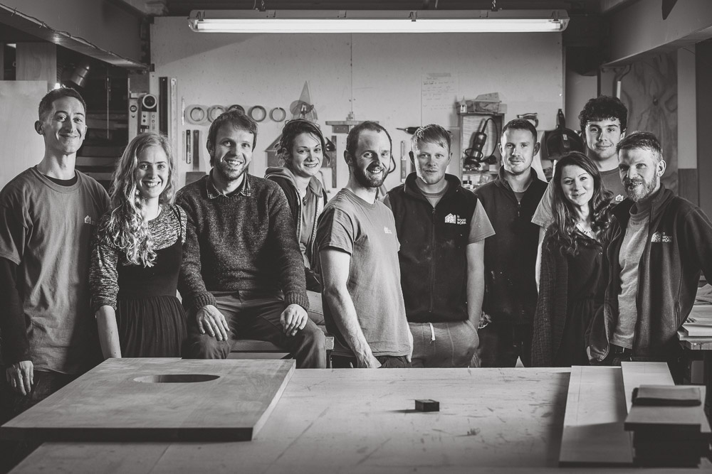 Our team photo in the workshop.