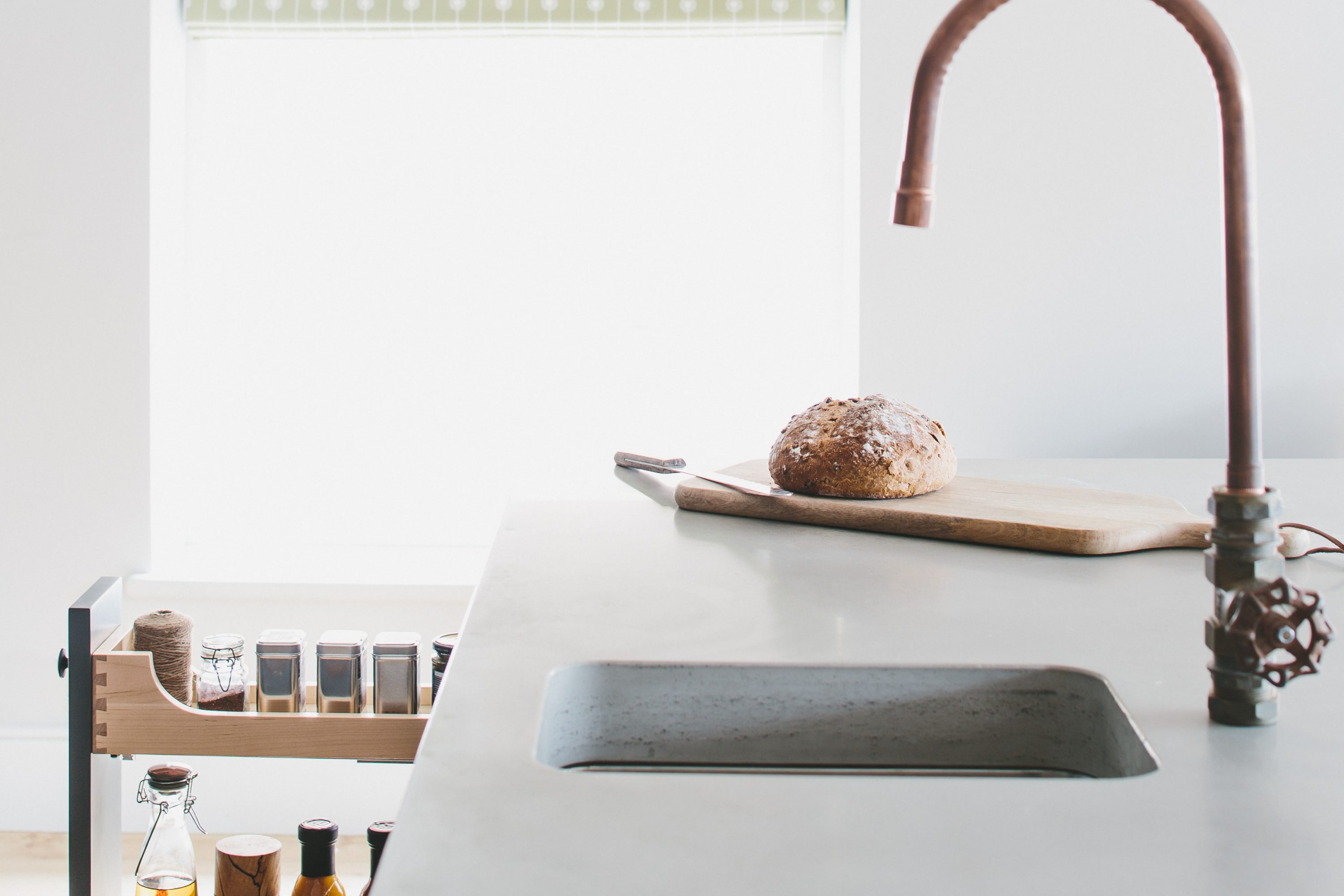 natural stone wooden and concrete worktops sustainable kitchens