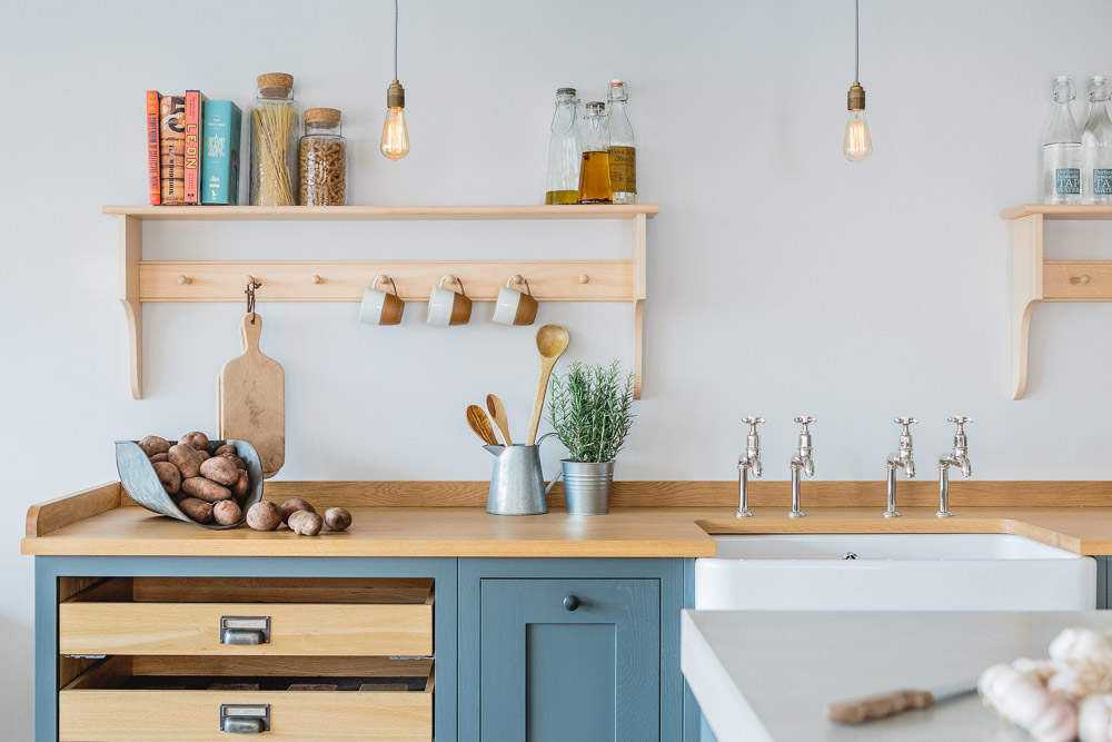 Sustainable kitchens industrial shaker style showroom