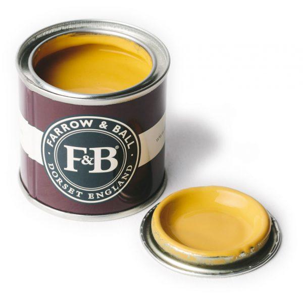 Farrow and Ball Yellow Paint pot.