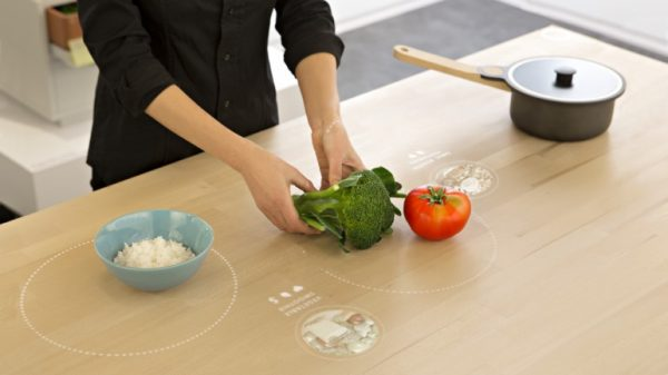 Ikea's 'table of tomorrow' - A smart interactive work surface that provides recipe inspiration with the aim of reducing food waste