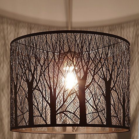 Lampshade with tree design