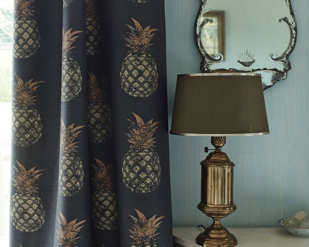 Pineapple print on curtain