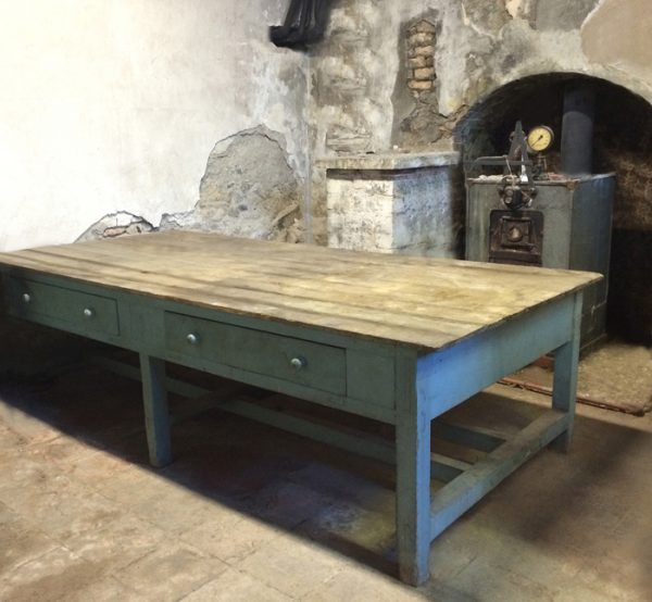 Georgian prep scullery table, vintage , reclaimed, reconditioned oak topped table