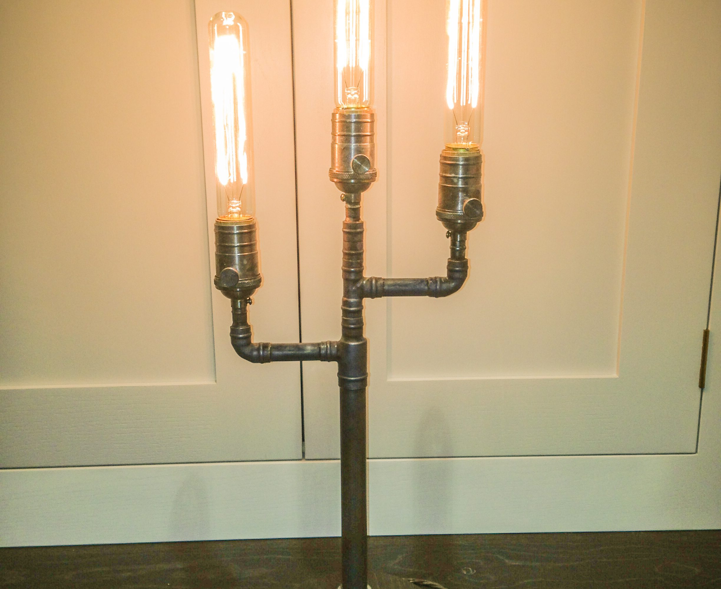 retro iron black style pipe rustic of industrial floor design grill lamp awesome