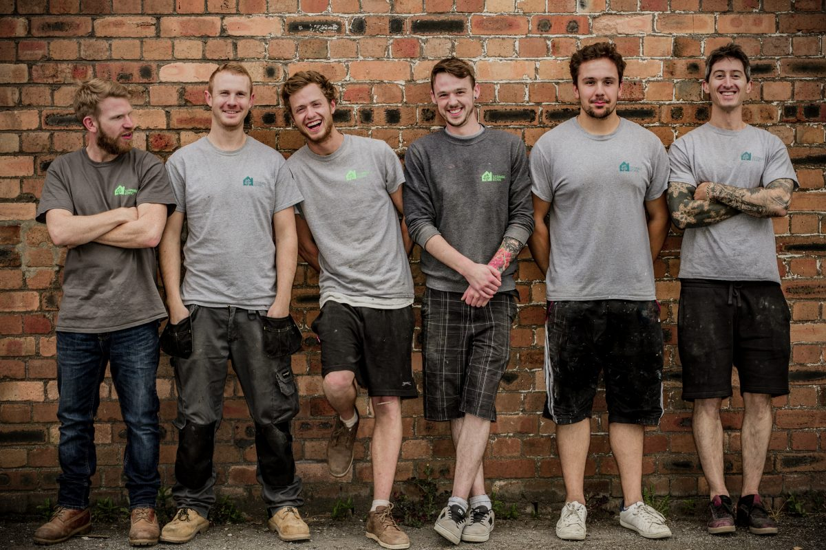 A photo of the workshop Team