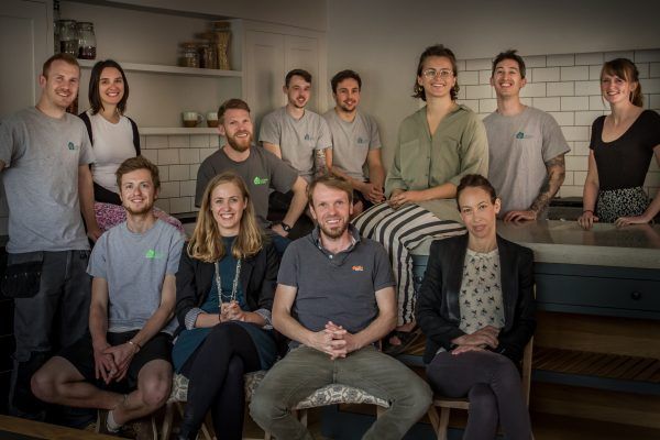 A photo of the entire Sustainable Kitchens team taken in May 2016