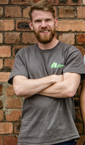 A photo of Jake Shaw, the workshop manager at Sustainable Kitchens