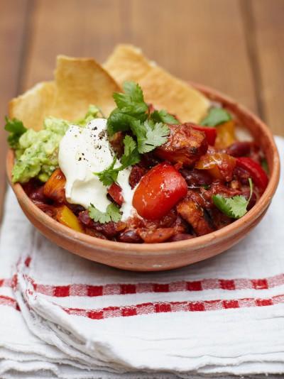 Jamie Oliver veggie chilli