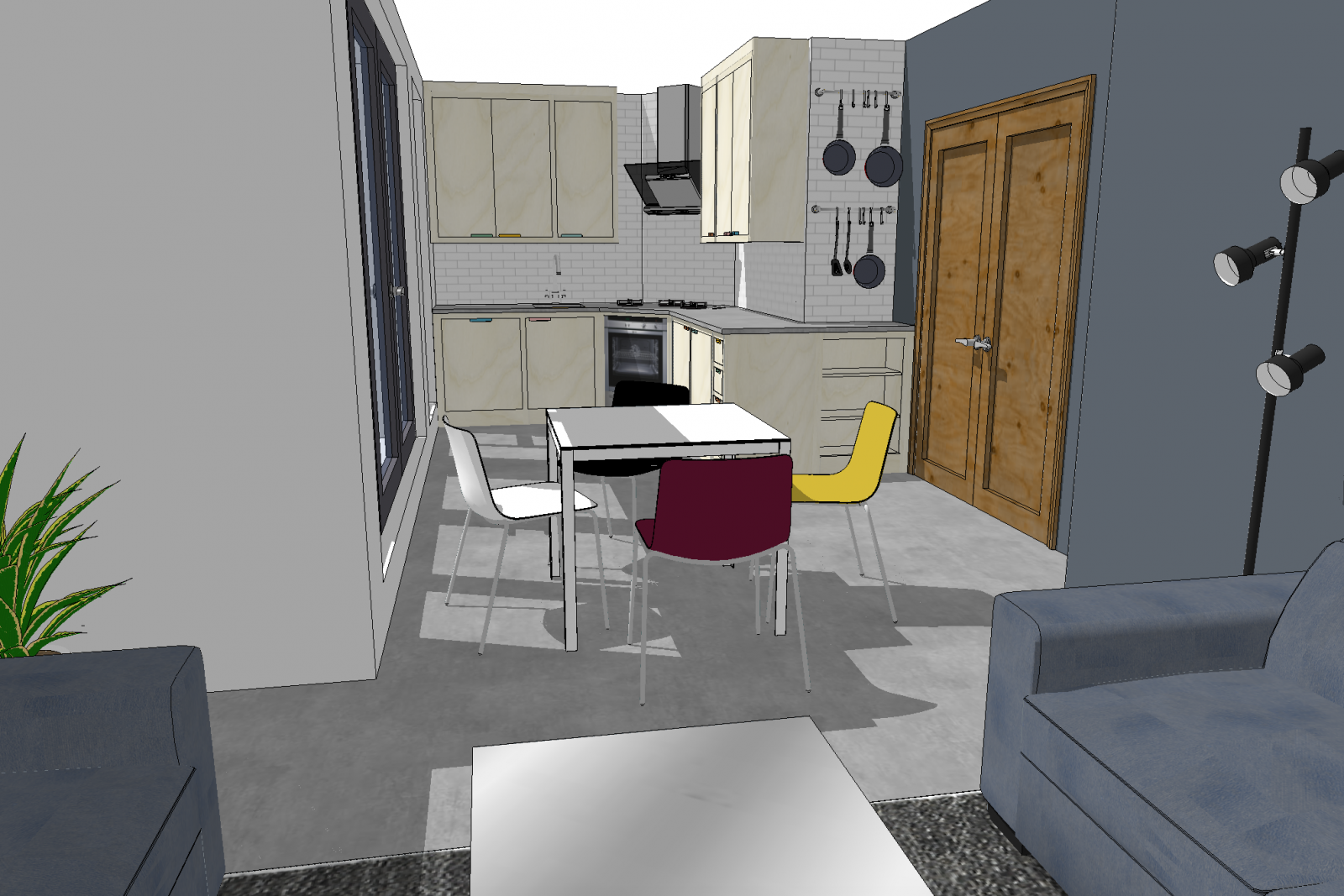 Design example of how best to utilise a small kitchen space