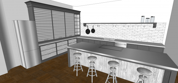 3d model of kitchen design