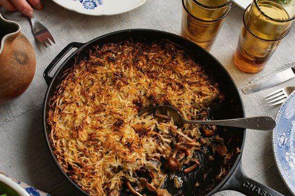 Mushroom and Parsnip Rosti Pie