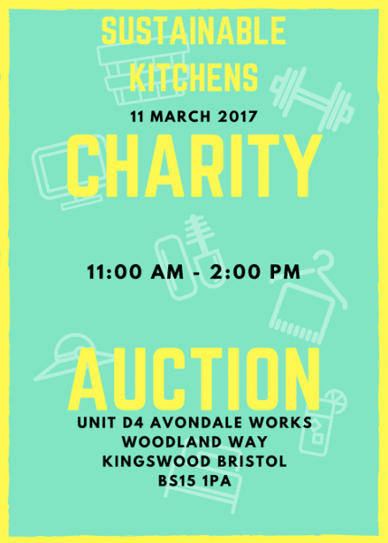 Sustainable Kitchens Charity Auction Poster