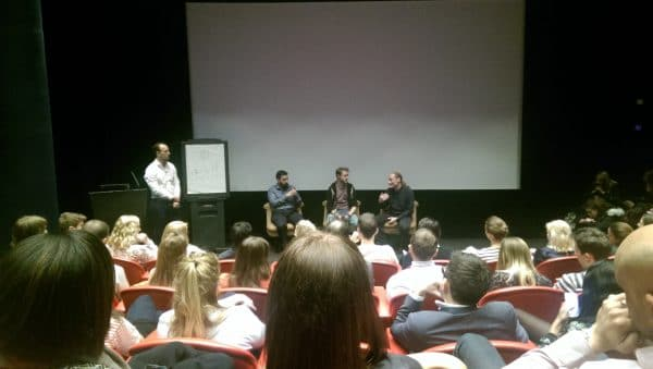 Panel discussion talking about smart technology at the Soho Hotel