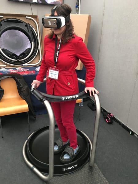 Olga testing the Rovr
