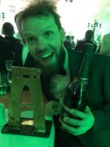 Sam Shaw at Bristol Life Awards ceremony
