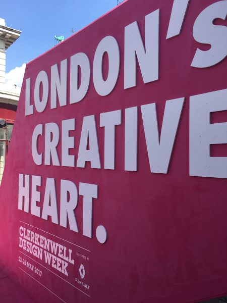 Clerkenwell Design Week sign