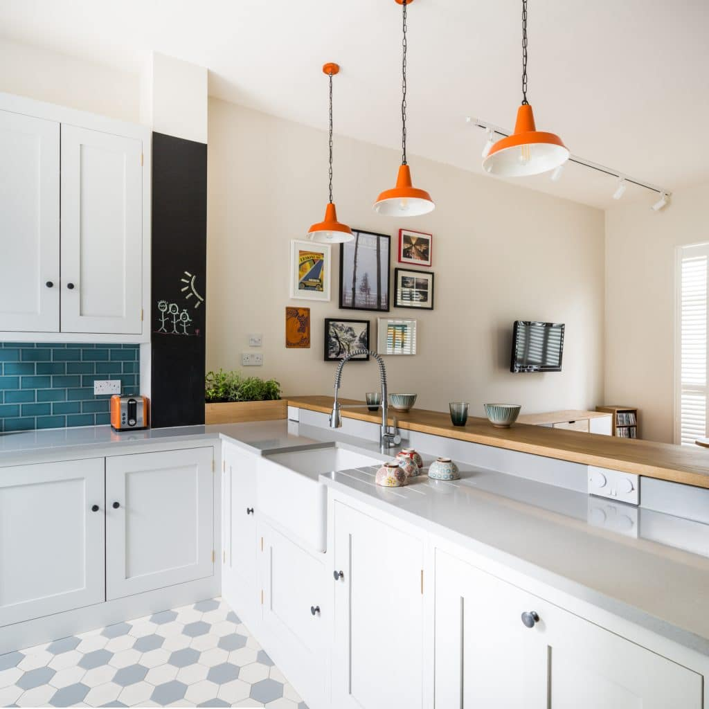 Quirky Kitchen Lighting: Quirky Retro Style Shaker Kitchen
