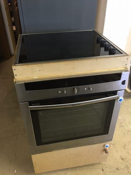 Integrated ovens are available to borrow