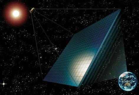 Solar power harvested directly from space
