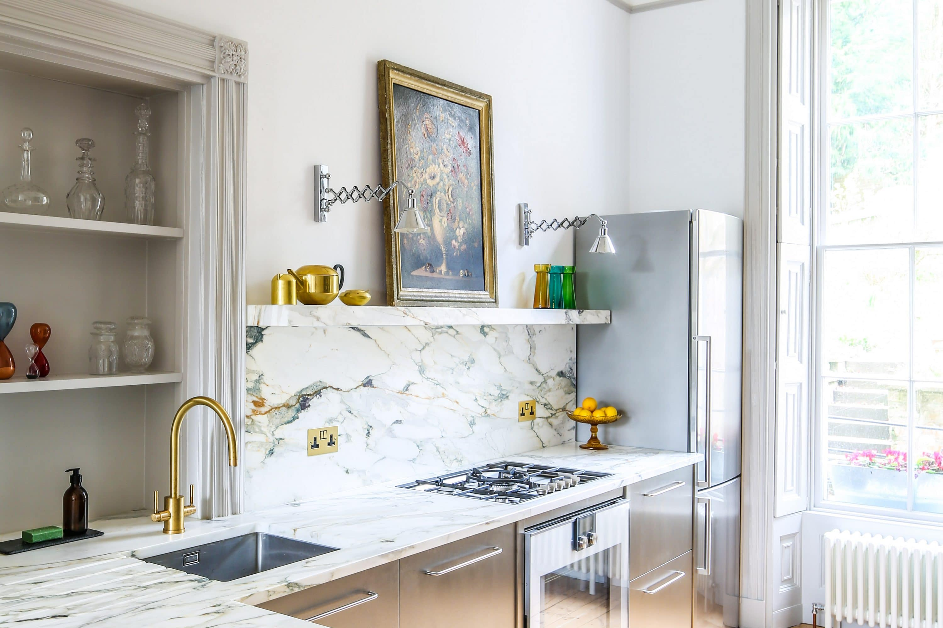 Foulser - The Steel And Marble Townhouse Kitchen - Sustainable Kitchens