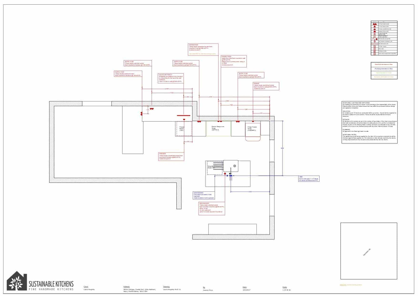 Example CAD drawing that our designers will present