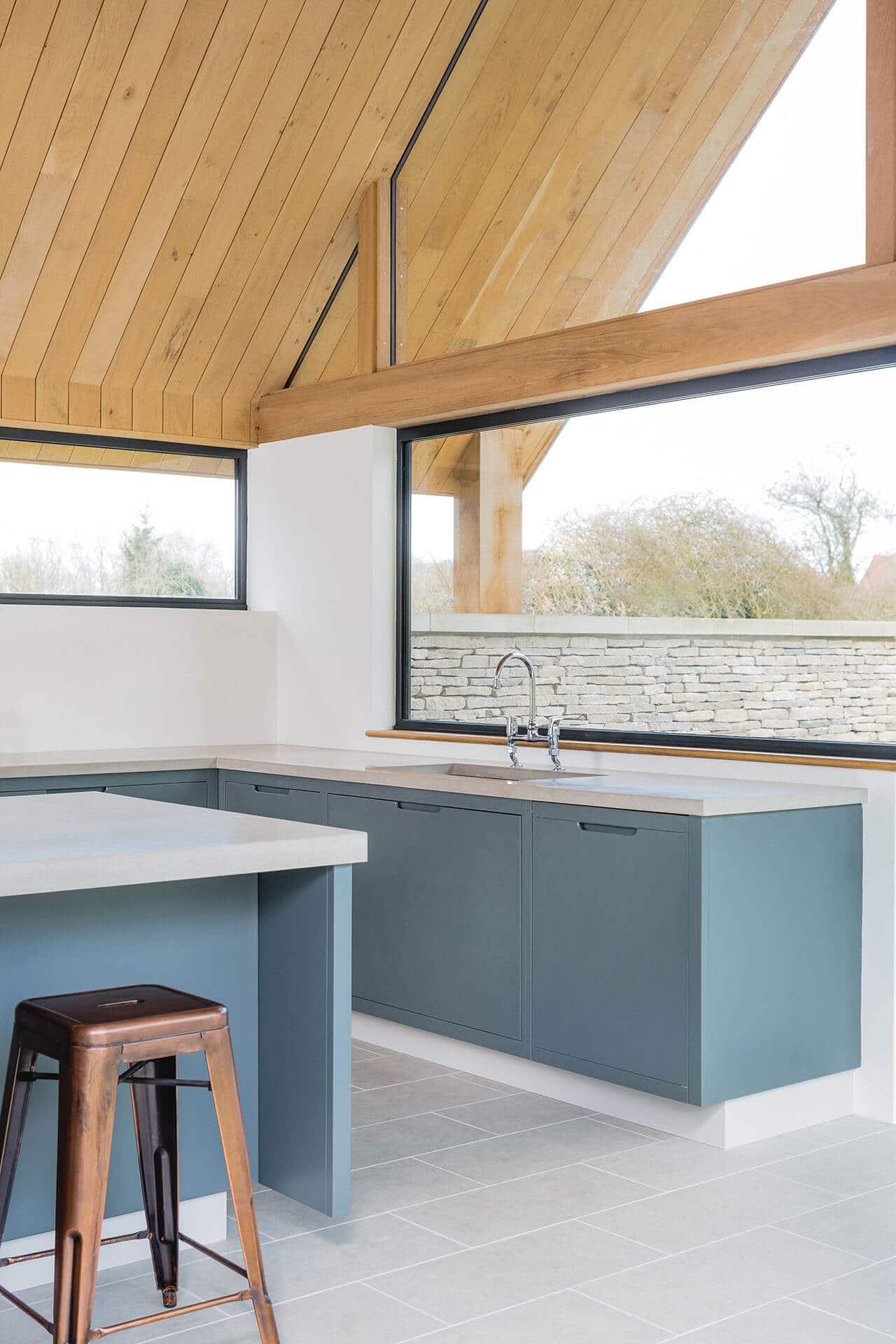 The Vine House, Minimalist, Modern Kitchen