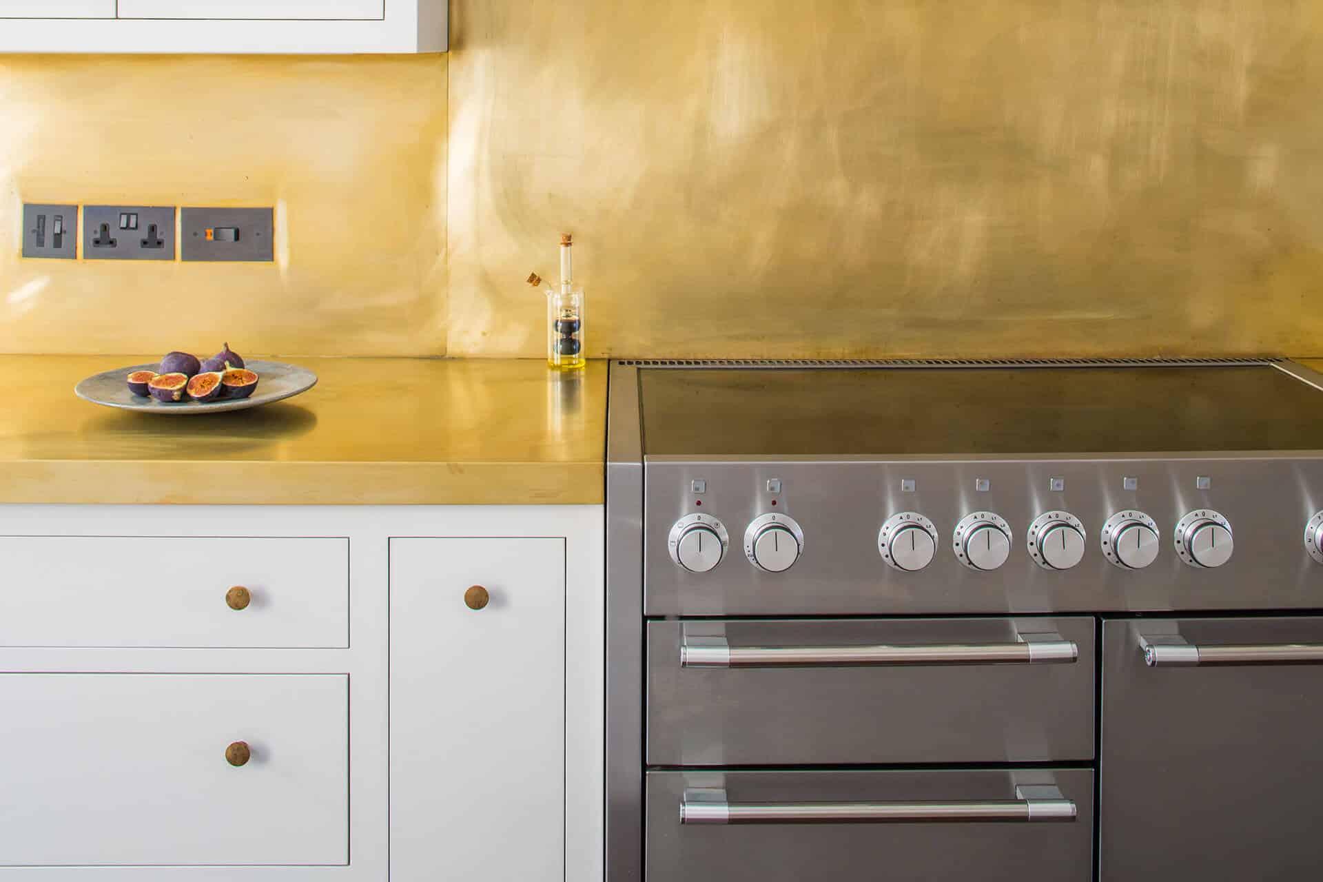 White Shaker Kitchen With Brass Sustainable Kitchens