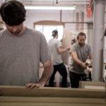 Barney Moore, Joe Hoyle & Ben Barrett in the workshop September 2018