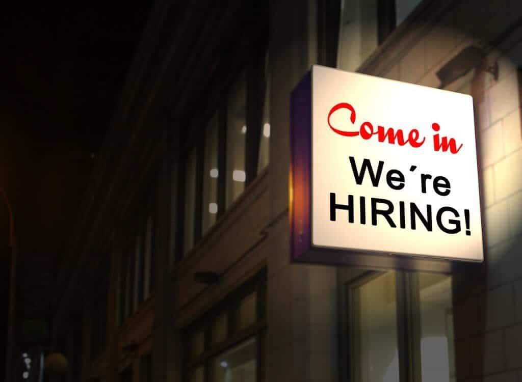 Come In We're Hiring - Job post