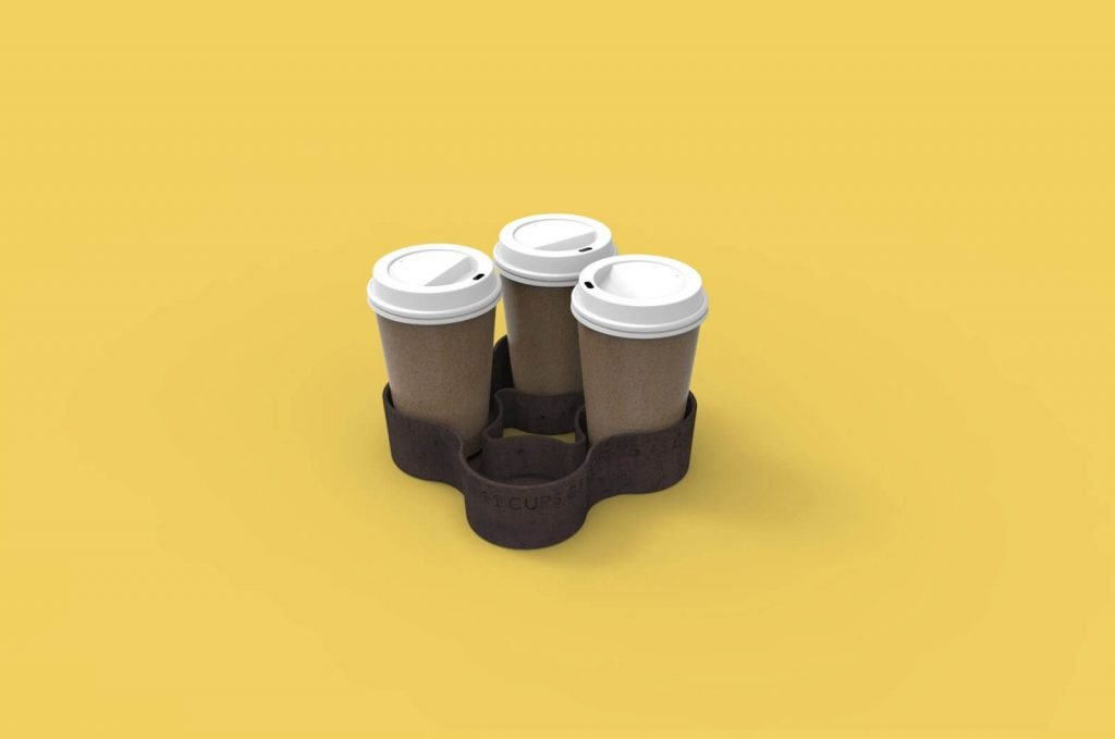 Future of sustainable Materials - Megan Stuart - 'It Has Bean' Cup - Recycled coffee grounds Holder
