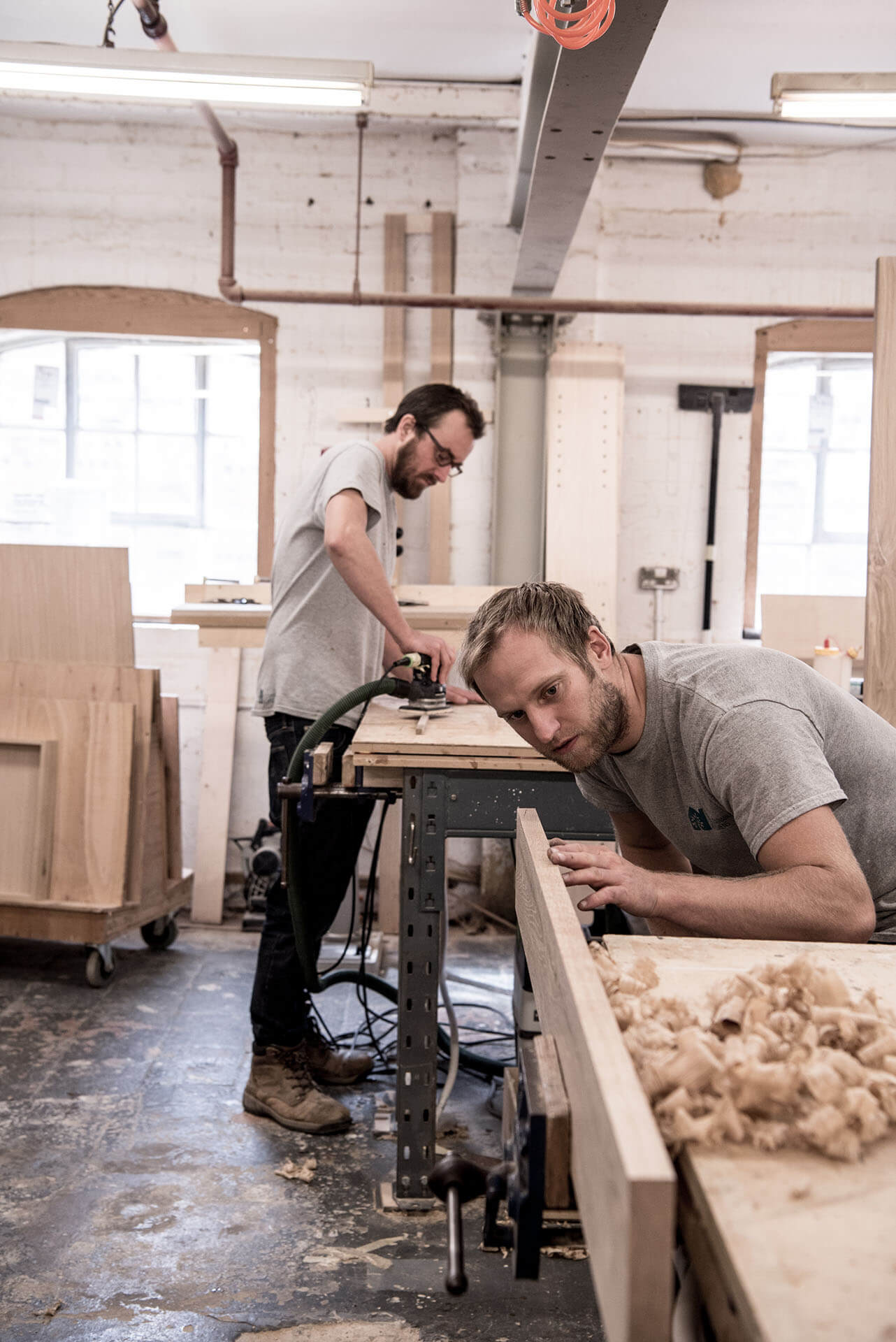 Joe Hoyle & Ben Barrett on the workshop September 2018