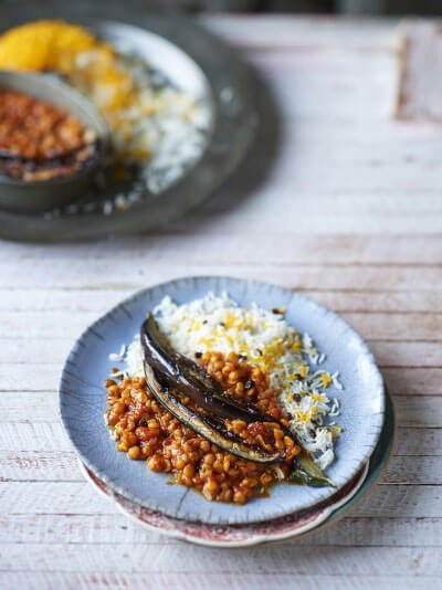 #MEATFREEMONDAY – YELLOW SPLIT PEA AND AUBERGINE STEW