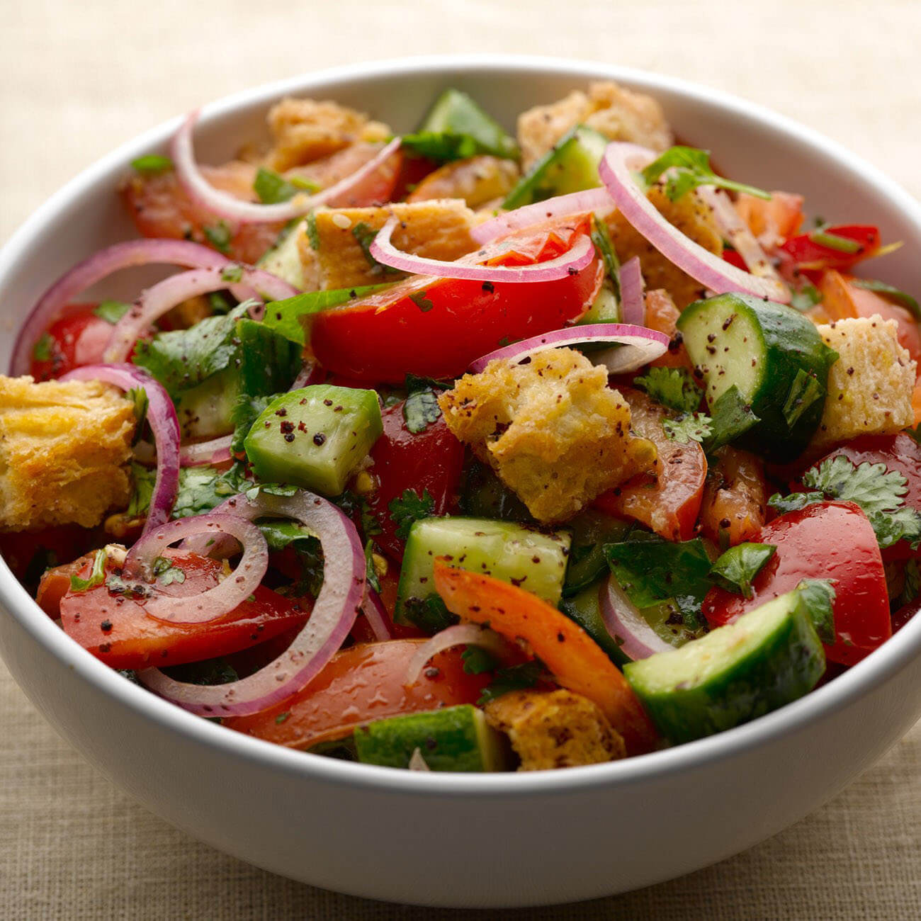 #MEATFREEMONDAY - ZESTY BREAD SALAD