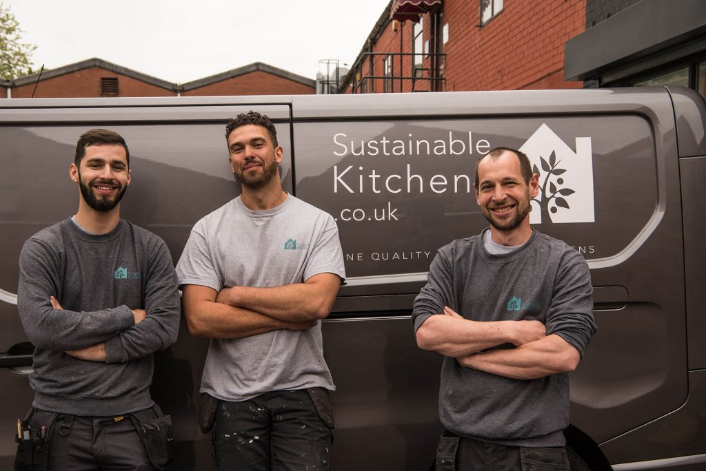 Sustainable Kitchens Installation team May 2018