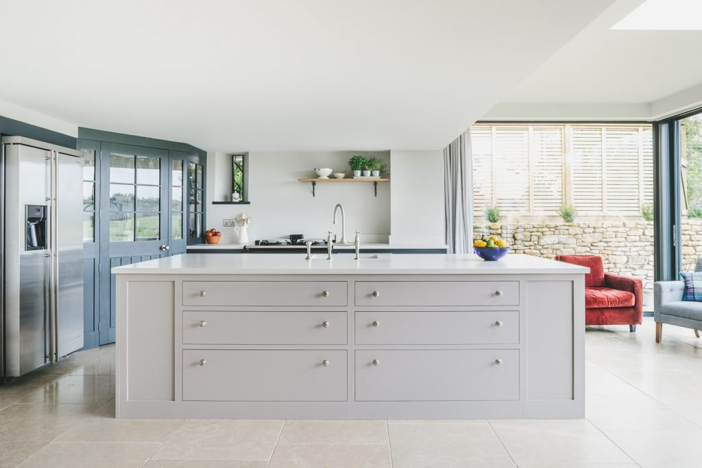 MANOR FARM KITCHEN - converted barn kitchen, farmstyle, shaker kitchen with huge central island