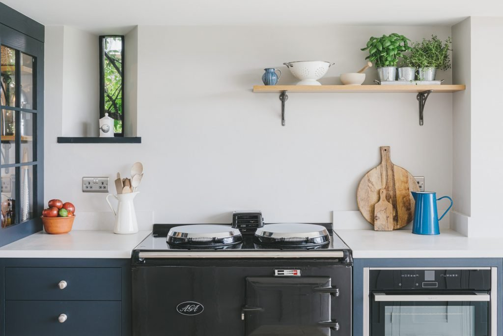 MANOR FARM KITCHEN - with reclaimed aga and shaker style kitchen cabinetry