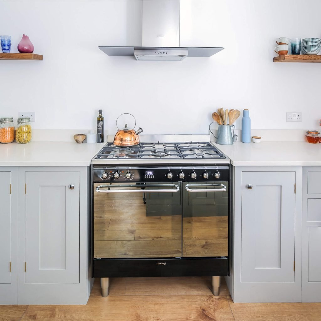 Montpellier grey shaker kitchen with smeg oven