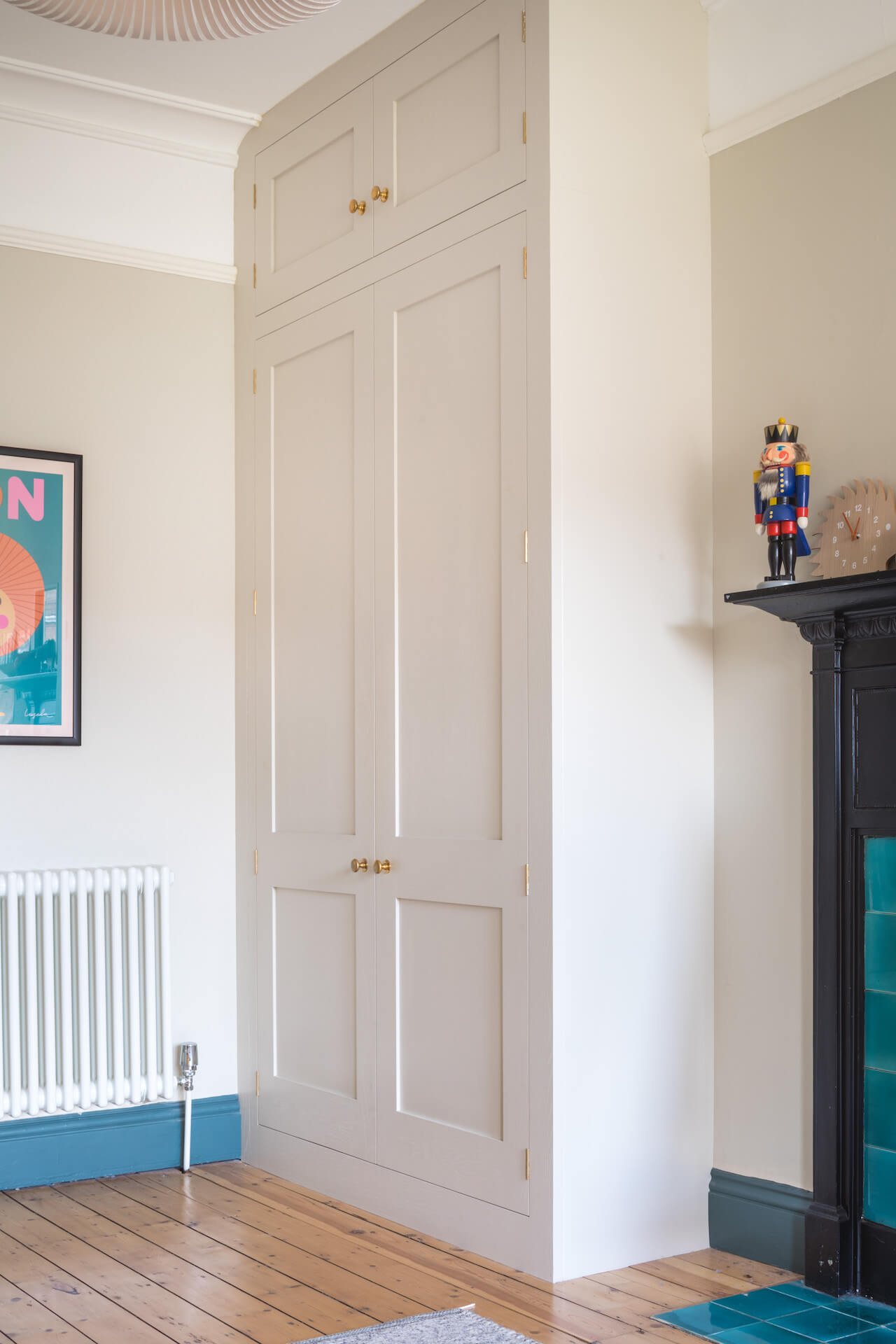 Alcove Storage with bespoke fitted wardrobes for childs bedroom