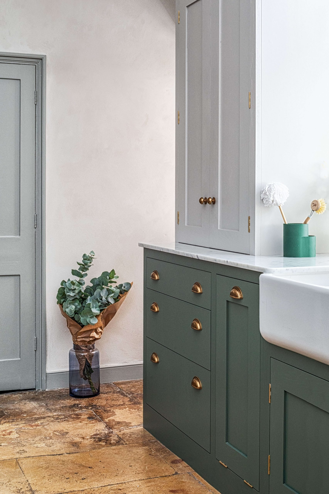 Green Shaker Kitchen - Bath - Sustainable Kitchens handmade solid wood kitchens