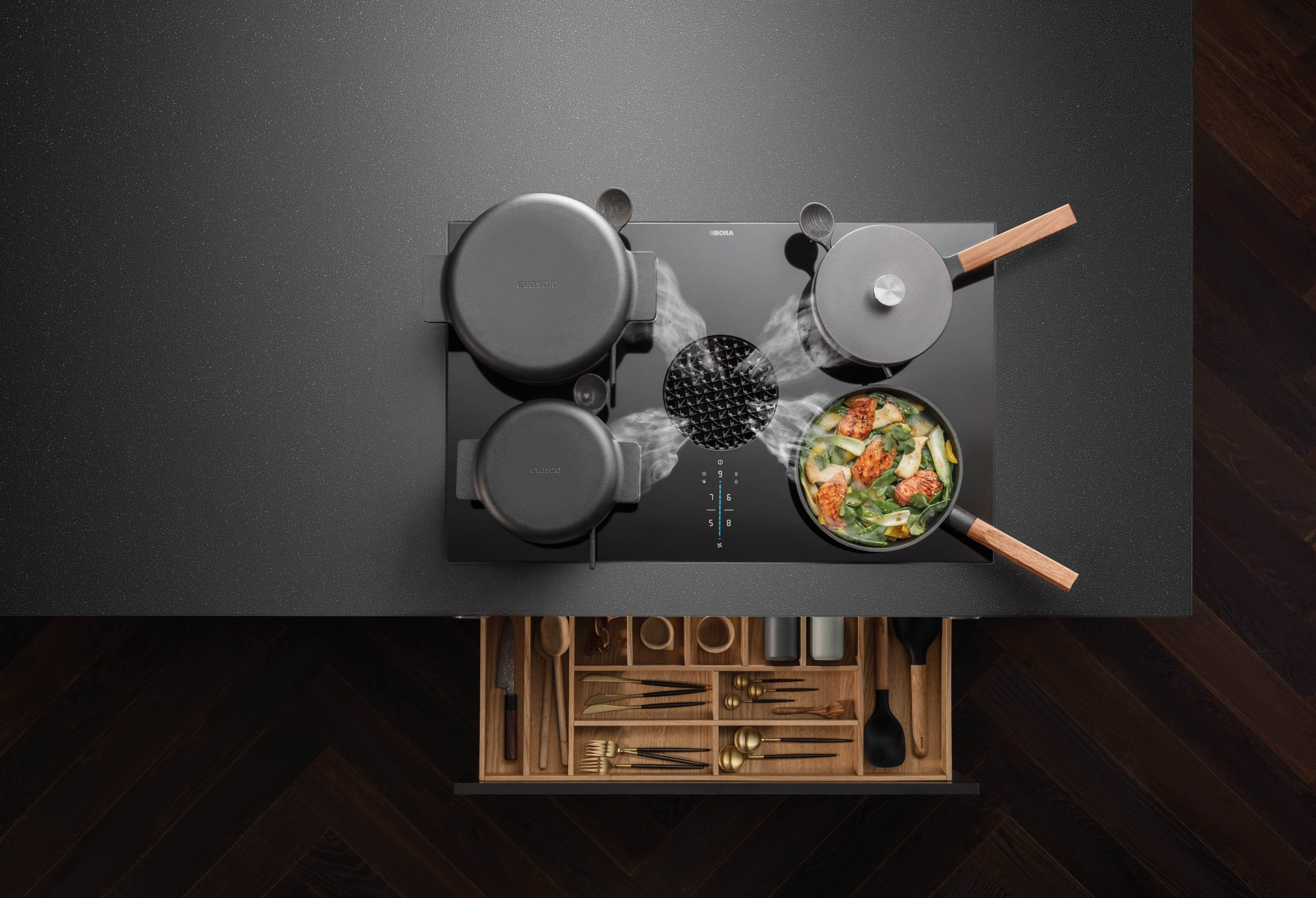 Bora X Pure Downward extractor - Bora Bristol supplier Sustainable Kitchens