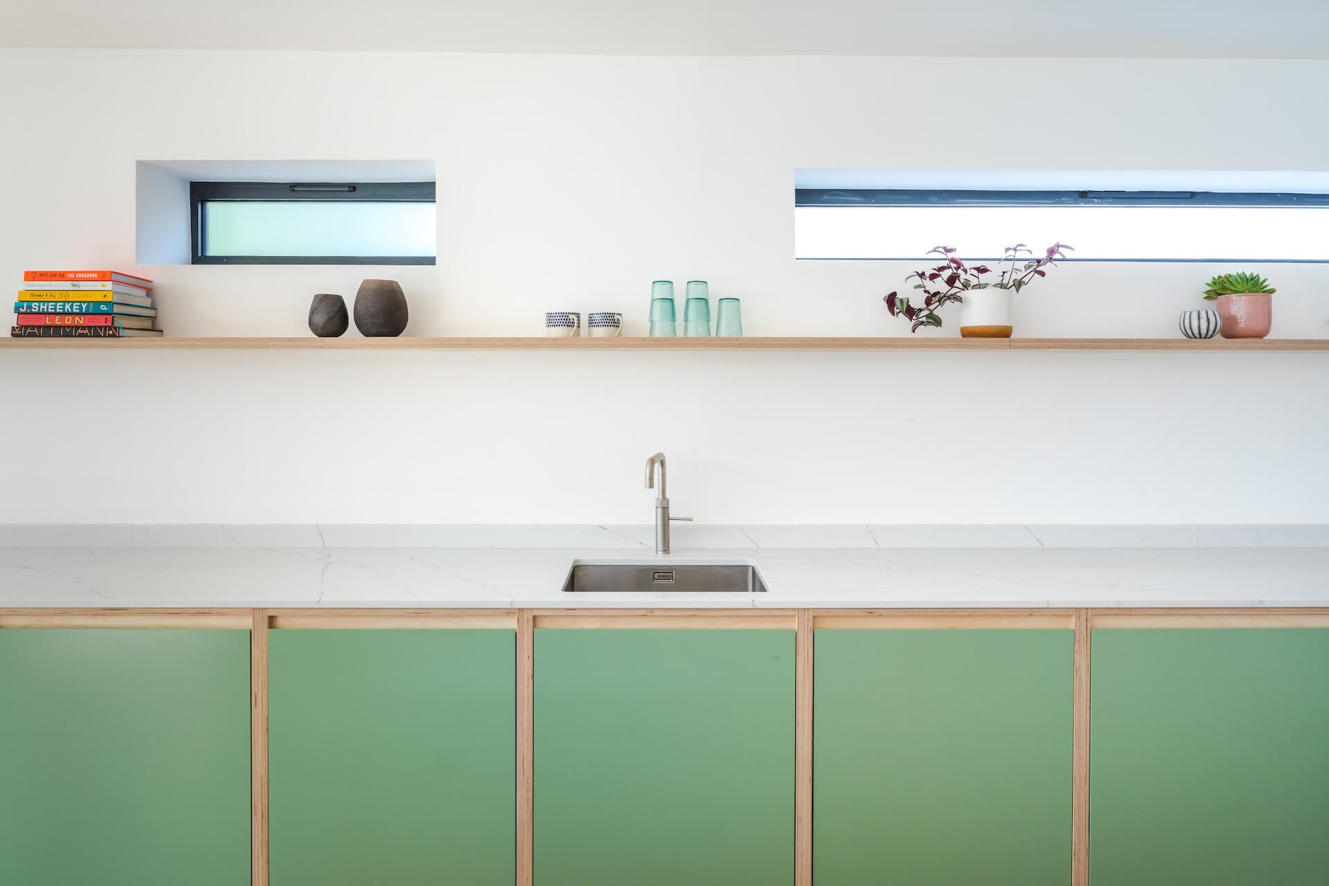 The Chapman Kitchen - Exposed edge plywood kitchen