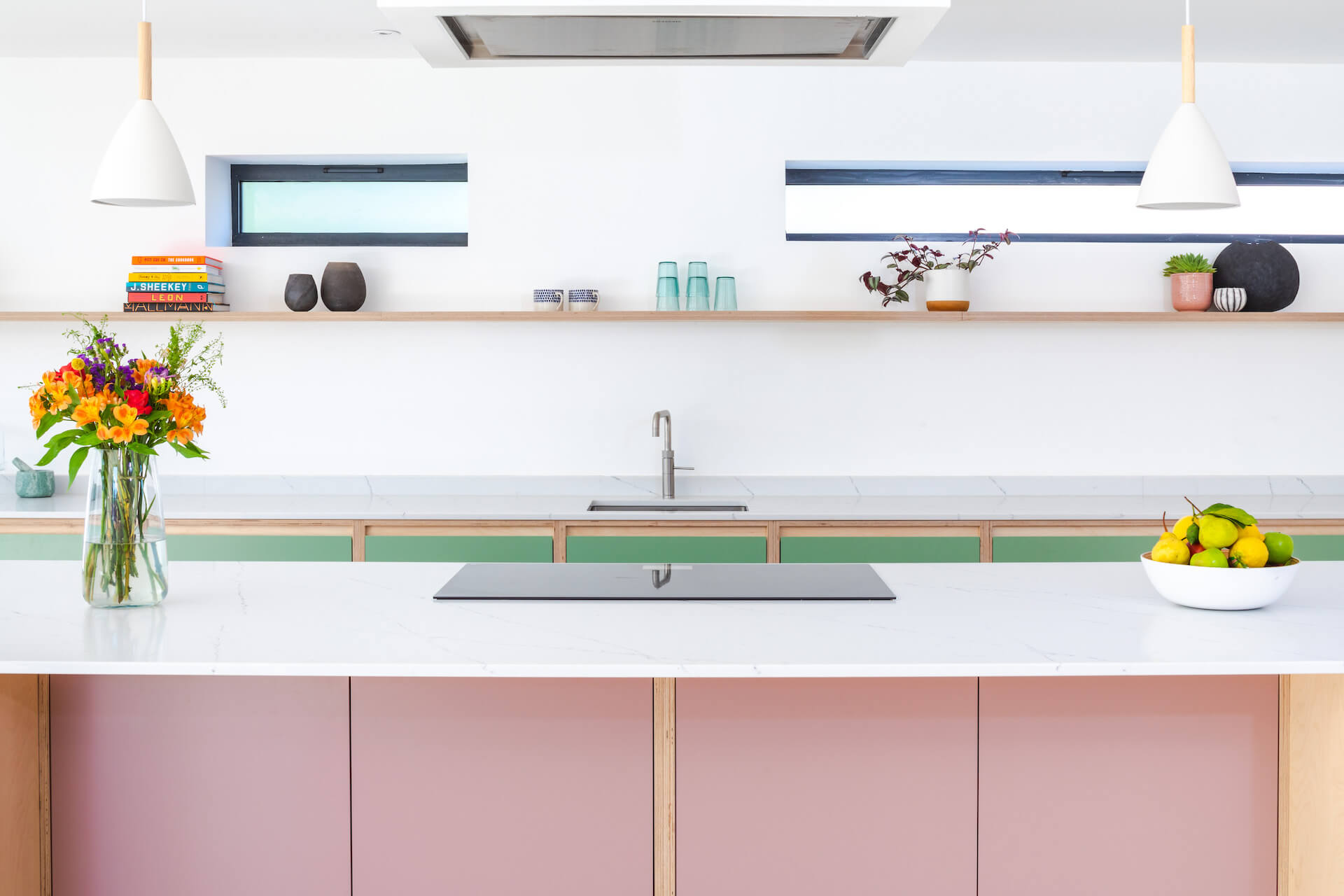 The ChapmanKitchen - Exposed Edge Plywood Kitchen colours by farrow and ball