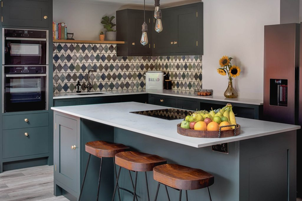 The Bristol Shaker Kitchen with breakfast bar island