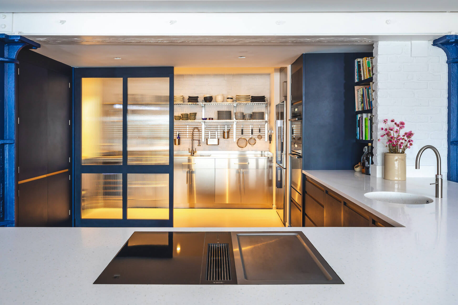 The Richlite Kitchen - Blue Canyon with Corian worktop, bora grill and quooker tap