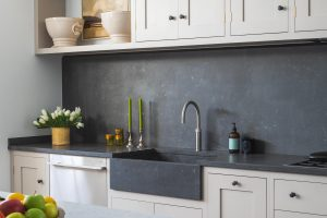 Grand Shaker Kitchen London - Concretto Scuro integrated sink and worktop