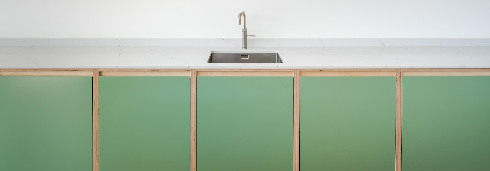 Minimalist Green Shaker Kitchen